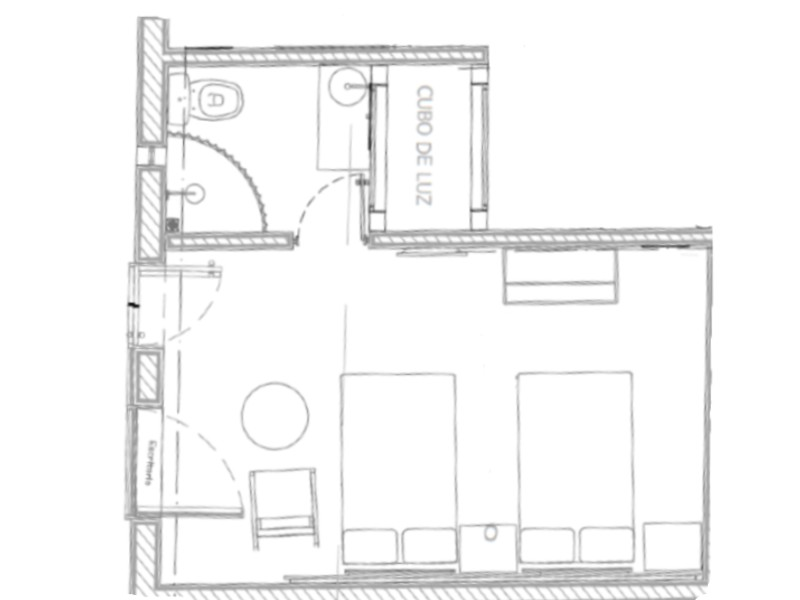 LayOut Standardt Room Hotel Azul